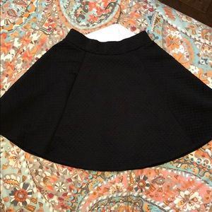 Black quilted skirt